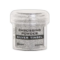 Ranger Embossing Powder, Silver Tinsel -