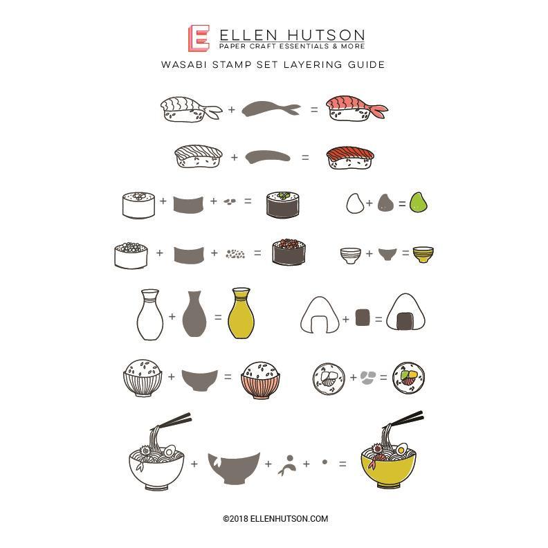 Wasabi by Julie Ebersole, Essentials by Ellen Clear Stamps -