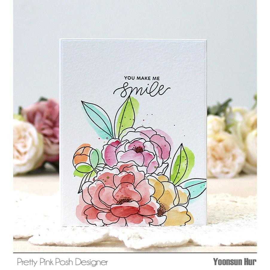 Pretty Pink Posh Clear Stamps, Encouraging Greetings -