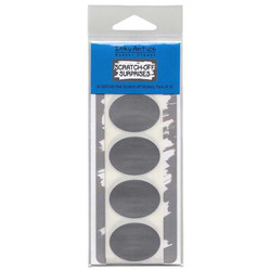 Inky Antics Scratch-Off Stickers, Oval -