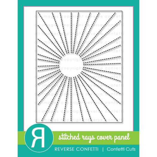 Reverse Confetti Cuts, Stitched Rays Cover Panel -