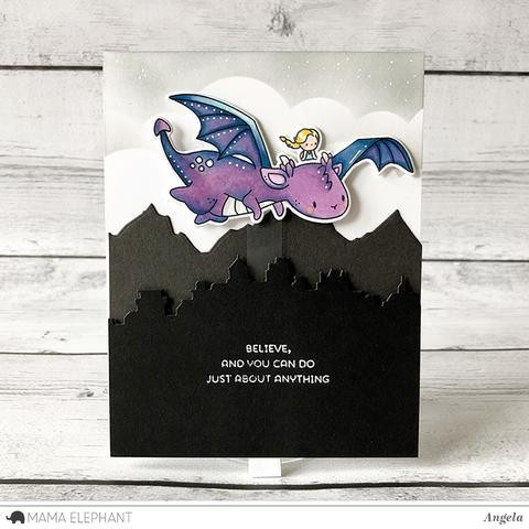 Mama Elephant Clear Stamps, Me And My Dragon -