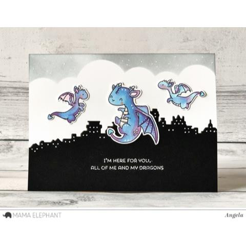 Mama Elephant Clear Stamps, Dragon Wishes -