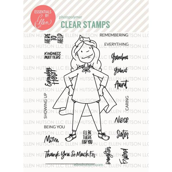 Essentials by Ellen Clear Stamps, Leading Ladies - Everyday Hero Lady By Brandi Kincaid -