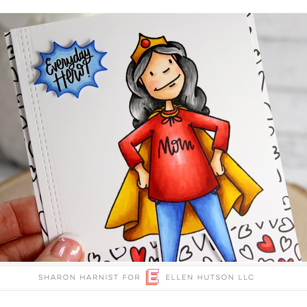 Leading Ladies - Everyday Hero Lady By Brandi Kincaid, Essentials by Ellen Clear Stamps -