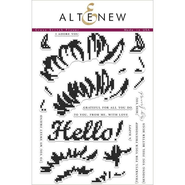Altenew Clear Stamps, Cross Stitch Flower - 655646466360