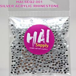 HAI Sequins, Silver Crystals -
