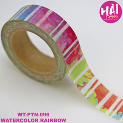 Watercolor Rainbow, HAI Washi Tape -