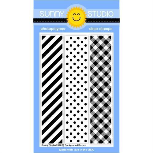 Sunny Studio Stamps Clear Stamps, Background Basics - 649964636292