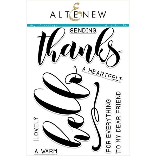 Altenew Clear Stamps, Mega Greetings - 655646167824