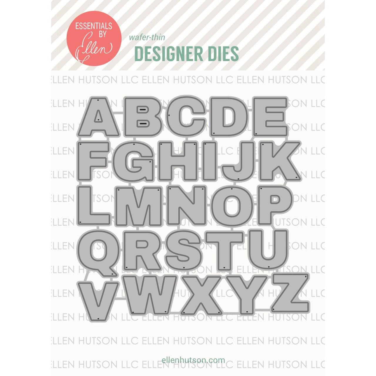 Classic Block Alpha by Julie Ebersole, Essentials By Ellen Designer Dies -