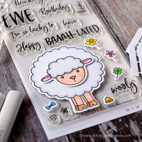 Honey Bee Clear Stamps, Lily The Lamb - 652827597944