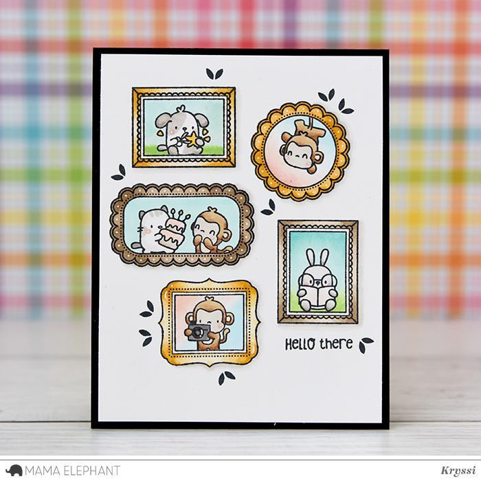 Mama Elephant Clear Stamps, Little Agenda Frames -