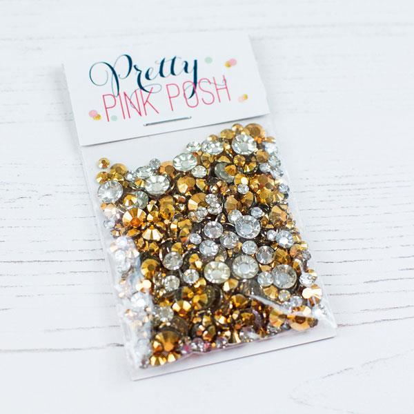 Pretty Pink Posh Jewels, Metallic Gold -