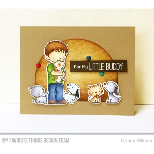 My Favorite Things Cling Stamps, Itsy Bitsy Polka Dots Background - 849923025574