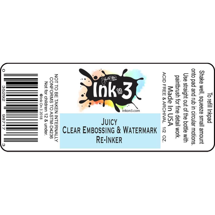 Ink On 3 Reinkers, Juicy Clear Embossing & Watermark - 352929871736