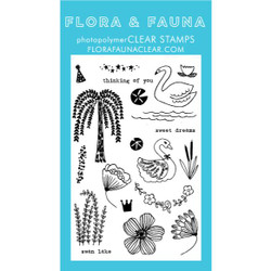 Flora & Fauna Clear Stamps, Swan Lake -