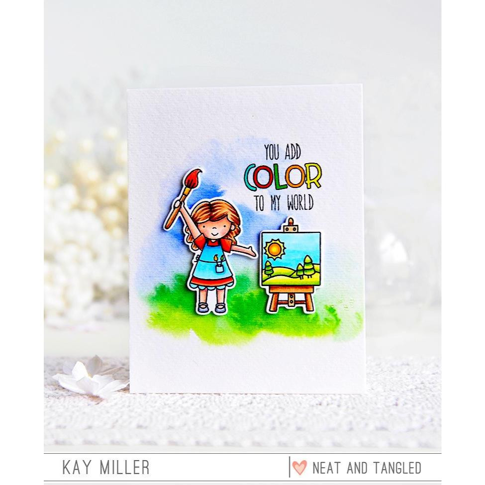 Neat & Tangled Clear Stamps, Paint Night -