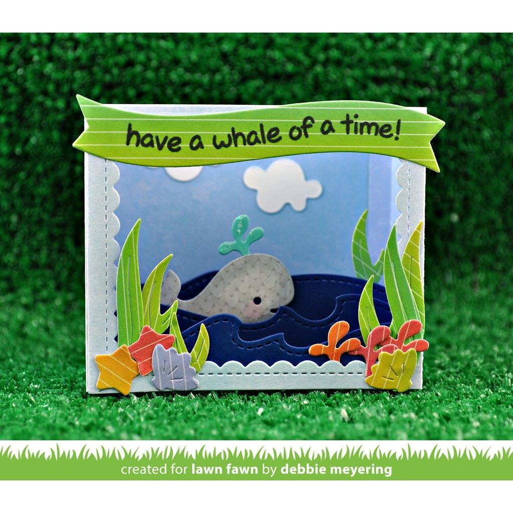 Shadow Box Card Ocean Add-On, Lawn Cuts Dies - 352926704570