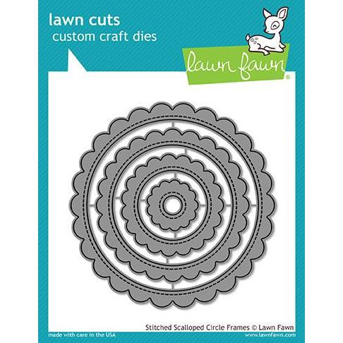 Stitched Scalloped Circle Frames, Lawn Cuts Dies - 352926705874
