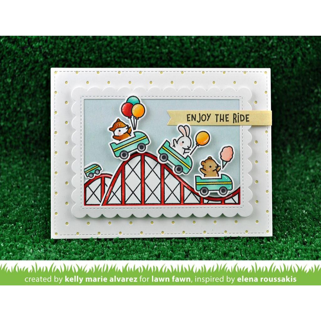 Lawn Cuts Dies, Stitched Scalloped Rectangle Frames - 352926705942