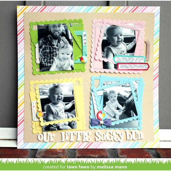 Lawn Cuts Dies, Stitched Scalloped Square Frames - 352926706000