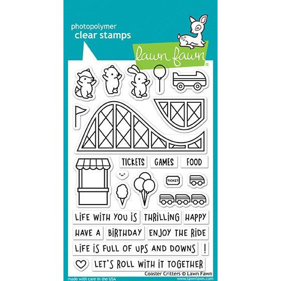 Lawn Fawn Clear Stamps, Coaster Critters - 352926703412