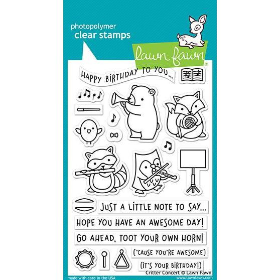 Lawn Fawn Clear Stamps, Critter Concert - 352926702040