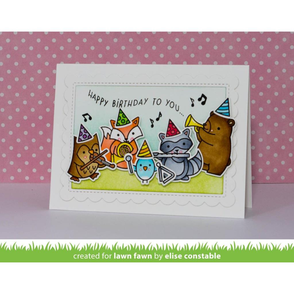 Critter Concert, Lawn Fawn Clear Stamps - 352926702040