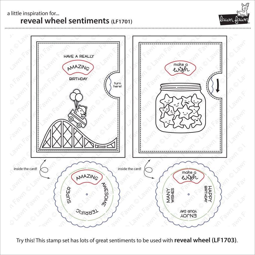 Reveal Wheel Sentiments, Lawn Fawn Clear Stamps - 352926704198
