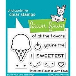 Lawn Fawn Clear Stamps, Sweetest Flavor - 352926703894