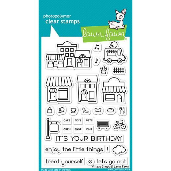 Lawn Fawn Clear Stamps, Village Shops - 352926703276