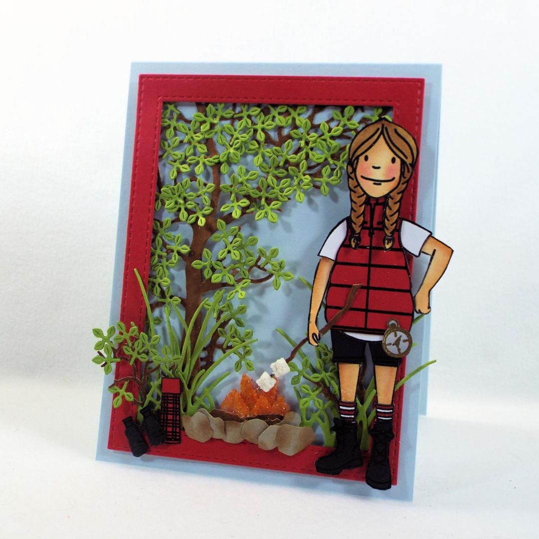 Leading Ladies - Woodsy Lady by Brandi Kincaid, Essentials by Ellen Clear Stamps -