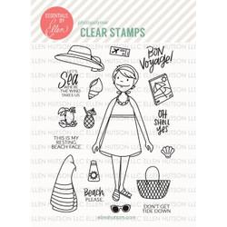 Essentials by Ellen Clear Stamps, Leading Ladies - Beach Lady by Brandi Kincaid -