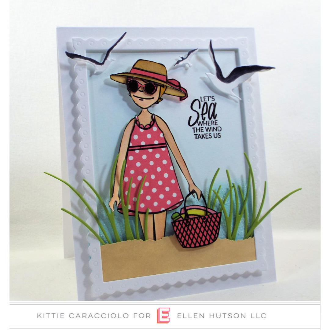 Essentials by Ellen Clear Stamps, Leading Ladies - Beach Lady by Brandi Kincaid -