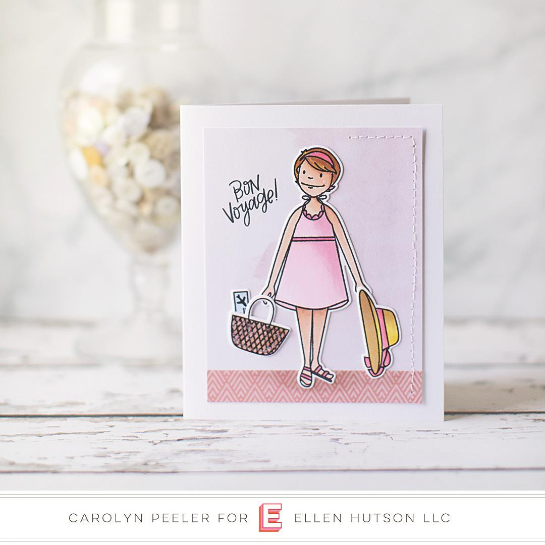 Leading Ladies - Beach Lady by Brandi Kincaid, Essentials by Ellen Clear Stamps -