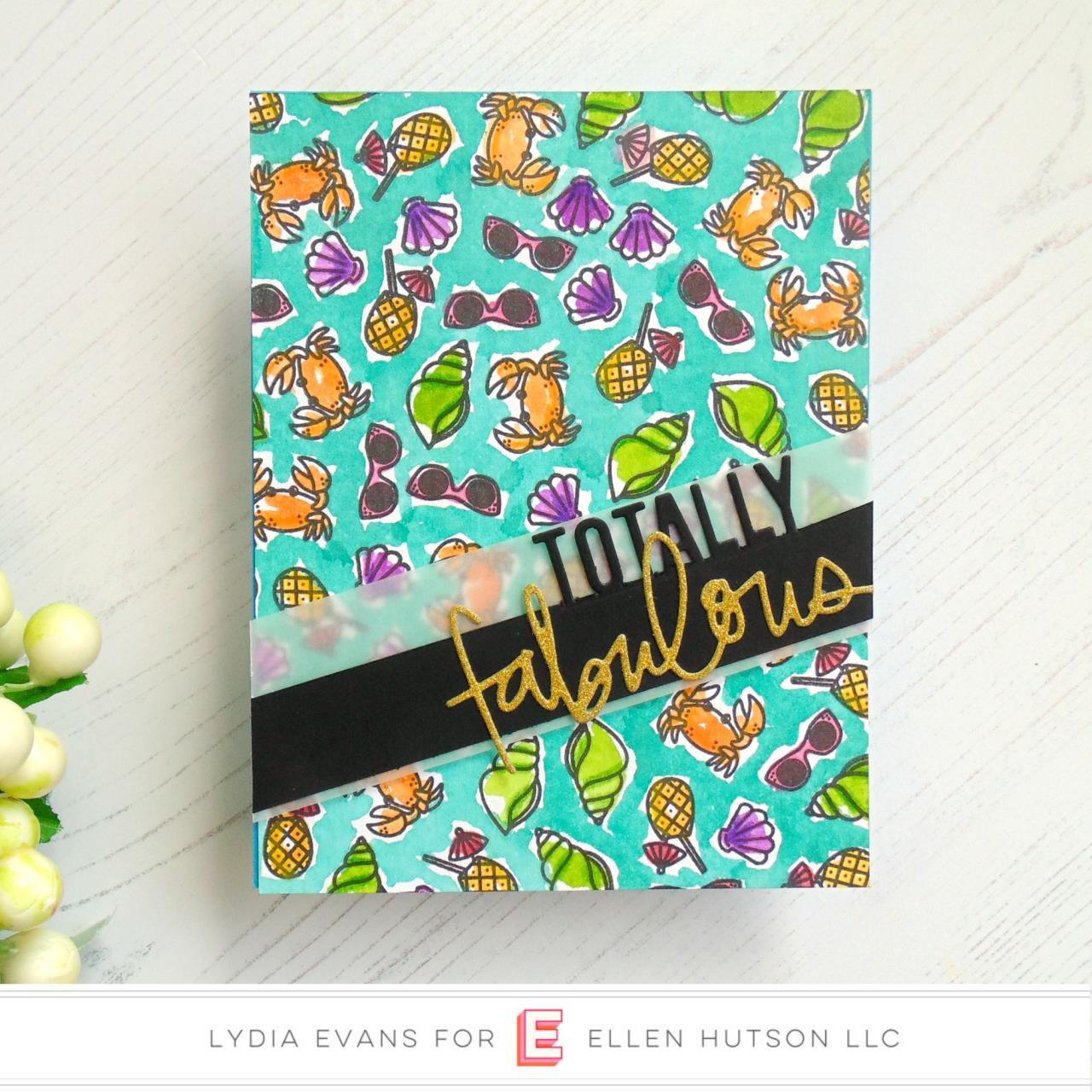 Leading Ladies - Beach Lady by Brandi Kincaid, Essentials by Ellen Clear Stamps -