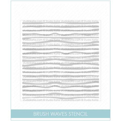Studio Katia Stencils, Brush Waves -