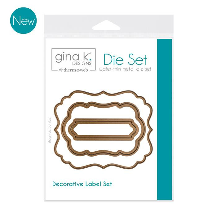 Gina K Designs Dies, Nested Label -
