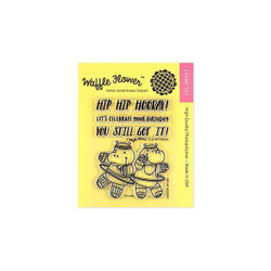 Waffle Flower Clear Stamps, Hip Hip Hooray - 653341232632