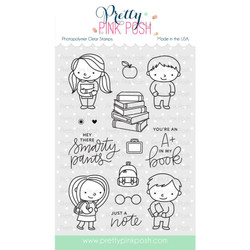 Pretty Pink Posh Clear Stamps, School Friends -