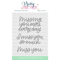 Pretty Pink Posh Clear Stamps, Miss You -