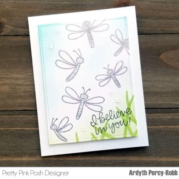 Pretty Pink Posh Clear Stamps, Darling Dragonflies -