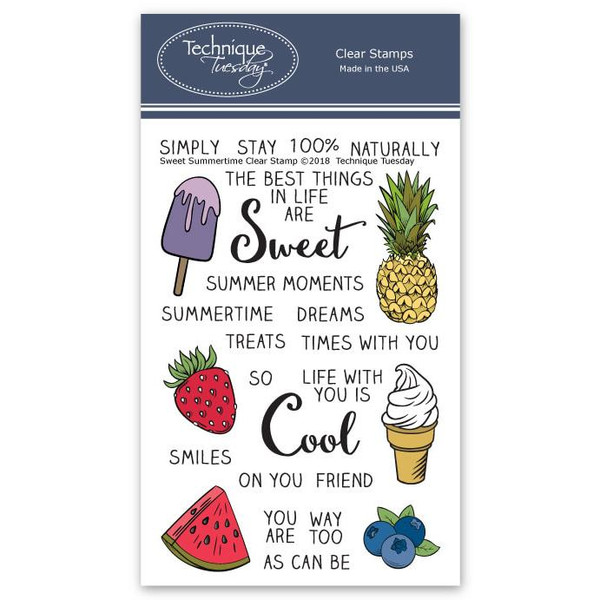 Technique Tuesday Clear Stamps, Sweet Summertime - 811784026816