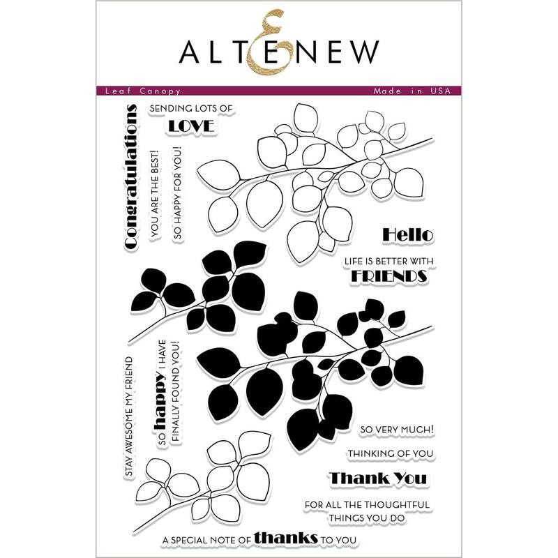 Altenew Clear Stamps, Leaf Canopy - 655646169019