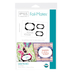 Gina K Designs Foil-Mates, Label Borders - 000943180999
