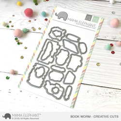 Mama Elephant Creative Cuts, Bookworm -