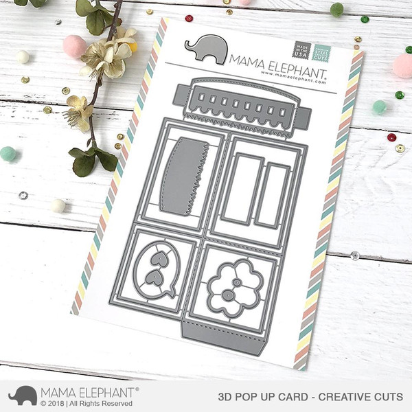 Mama Elephant Creative Cuts, 3D Pop Up Card -