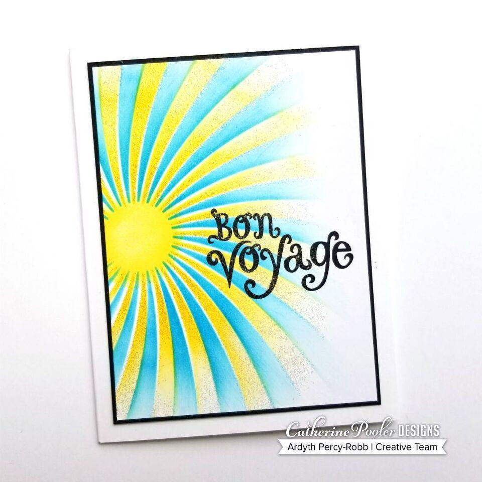 Catherine Pooler Stencils, Twisted Sunburst - 819447022076