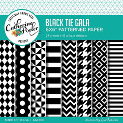 Catherine Pooler Patterned Paper, Black Tie Gala -
